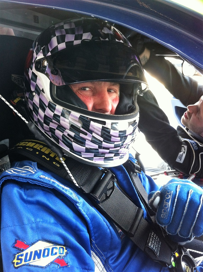 Alistair getting ready for the green lights......