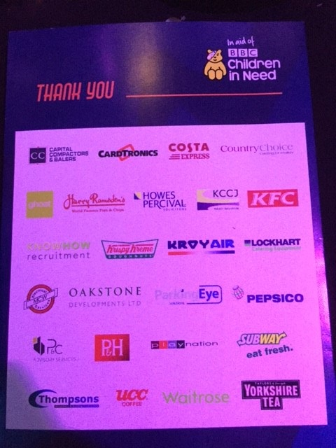 Companies supporting the Welcome Break Summer Ball