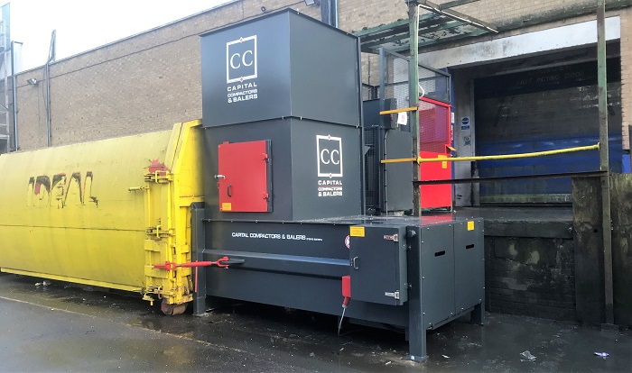 The CS3 Compactor with Container Attached