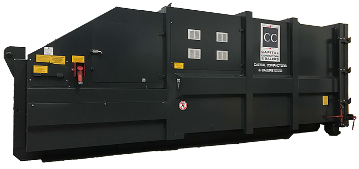 New CP30 Rolonof Portable Waste Compactor with Enclosed Hopper