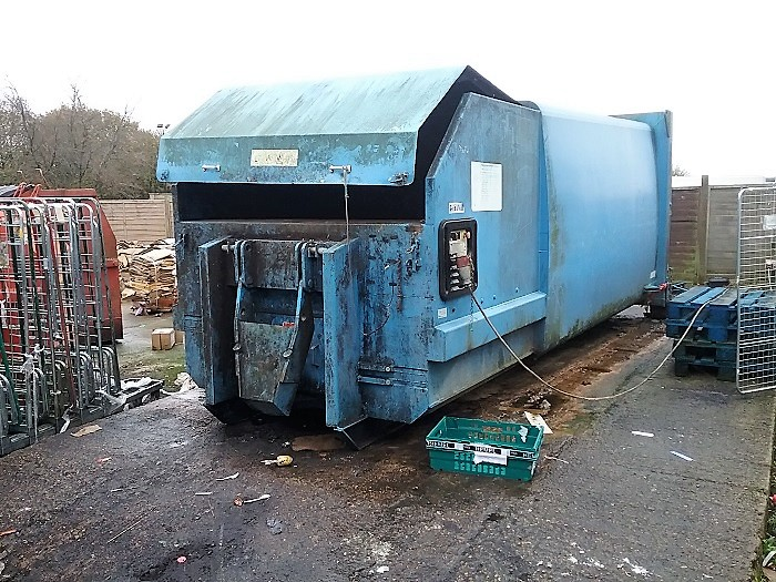 Old Portable Compactor Ready For Replacement