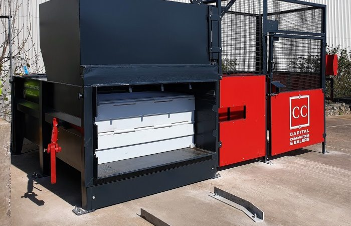 Compactor In Place with Guide Rails