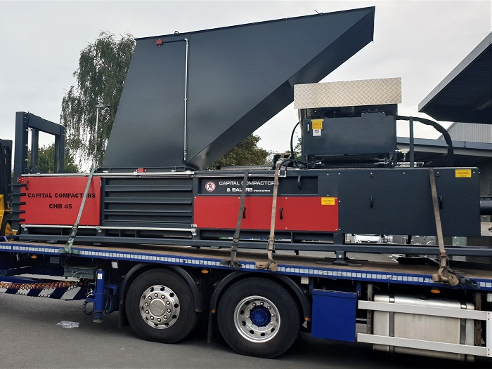 CHB45 Baler On Flatbed Truck