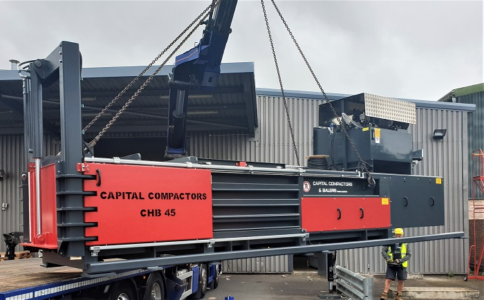 CHB45 Baler On Hiab