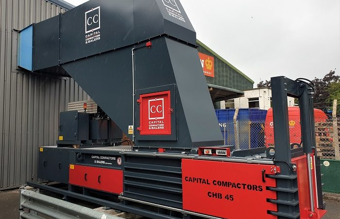 CHB45 Baler With Chute Installation Complete