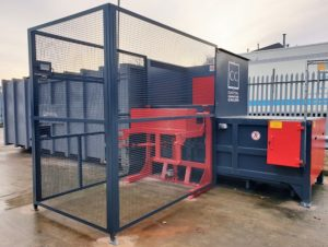CS3 with Bin Lift and Personnel Safety Cage