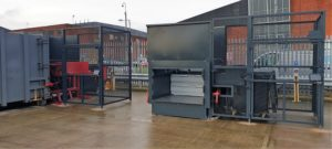 2 x CS3 Compactors - One With Container Attached, One Without