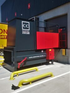 Dock Loading CS3 with Bin Lift - Exterior View